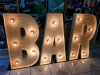 Marquee Lights -B  A  R -natural wood colou