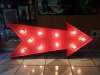 Red Marquee Arrow