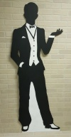 20s Silhouette cut out - P3 Man