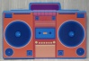 Bright Boom Box Cut Out XO1