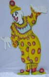Clown Cut Out P1 - Yellow & Red
