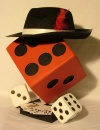 Medium Dice with Hat