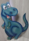 Dinosaur Cut Out X02 - Blue