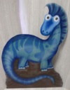 Dinosaur Cut Out X04 - Bright Blue