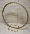 Large Gold Hoop with base