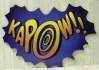 Kapow Sign Cut Out