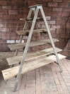 Wooden Ladder with 5 Planks