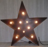 Large Black Star with Lights