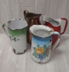 Old Large Enamel Jugs