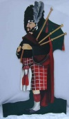 Scottish Bagpipe Player Cut Out P1