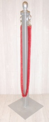 Silver Stanchion / Red Cord