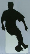 Soccer silhouette cut out 1