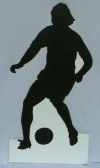 Soccer silhouette cut out 2