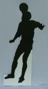Soccer silhouette cut out 4