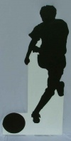 Soccer silhouette cut out 5