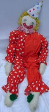 Stuffed Clown 1 - Red