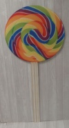 Lollipop Cut Out XO1 - Colourful
