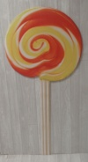 Lollipop Cut Out XO2 - Red & Orange