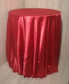 Pink Satin Round Table Cloths