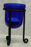 Saphire Blue Candle Holder