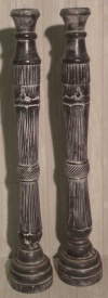Tall Black/Grey Candlestick