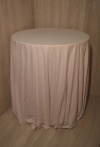 White Damask Round Table Cloths